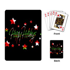 Happy Holidays 2  Playing Card
