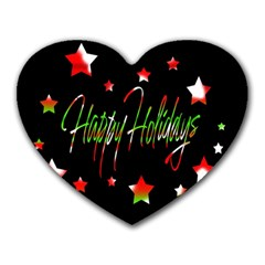 Happy Holidays 2  Heart Mousepads