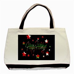 Happy Holidays 2  Basic Tote Bag (Two Sides)