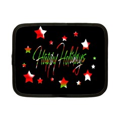 Happy Holidays 2  Netbook Case (Small)