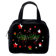 Happy Holidays 2  Classic Handbags (One Side)