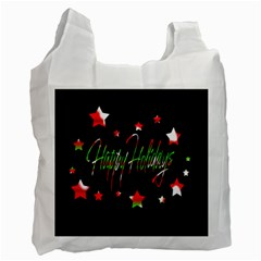 Happy Holidays 2  Recycle Bag (Two Side)