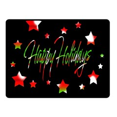 Happy Holidays 2  Fleece Blanket (Small)