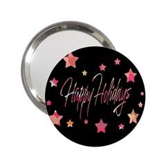 Happy Holidays 3 2.25  Handbag Mirrors