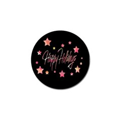 Happy Holidays 3 Golf Ball Marker (10 pack)