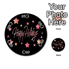 Happy Holidays 3 Playing Cards 54 (Round)