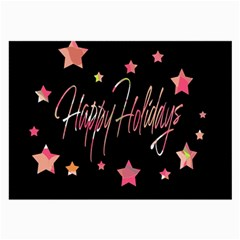 Happy Holidays 3 Large Glasses Cloth (2-Side)