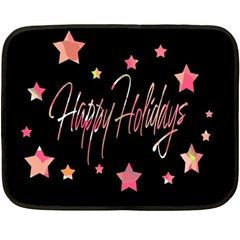 Happy Holidays 3 Fleece Blanket (Mini)