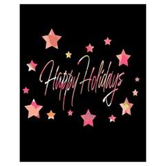 Happy Holidays 3 Drawstring Bag (Small)