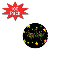Happy Holidays 4 1  Mini Magnets (100 pack)