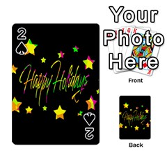 Happy Holidays 4 Playing Cards 54 Designs