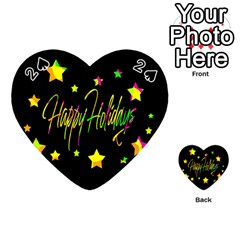 Happy Holidays 4 Playing Cards 54 (Heart)