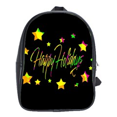Happy Holidays 4 School Bags(Large)