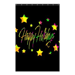 Happy Holidays 4 Shower Curtain 48  X 72  (small)