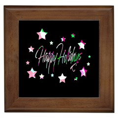 Happy Holidays 5 Framed Tiles