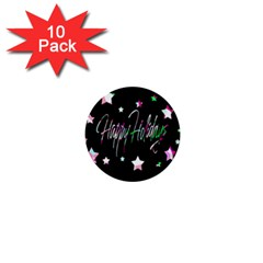 Happy Holidays 5 1  Mini Buttons (10 pack)