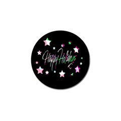 Happy Holidays 5 Golf Ball Marker (10 pack)