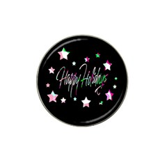 Happy Holidays 5 Hat Clip Ball Marker (4 pack)