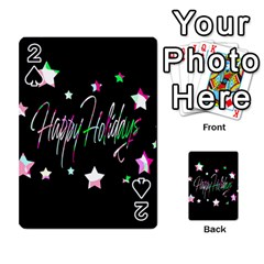 Happy Holidays 5 Playing Cards 54 Designs