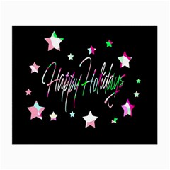 Happy Holidays 5 Small Glasses Cloth (2-Side)