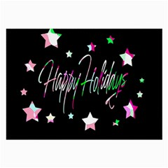 Happy Holidays 5 Large Glasses Cloth (2-Side)