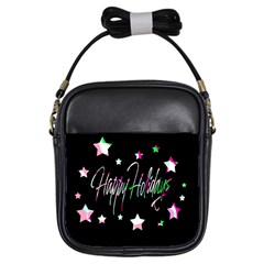 Happy Holidays 5 Girls Sling Bags