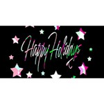 Happy Holidays 5 BEST SIS 3D Greeting Card (8x4) Back