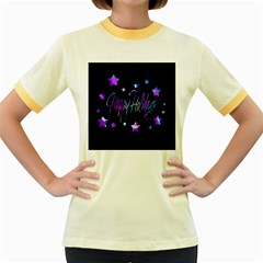 Happy Holidays 6 Women s Fitted Ringer T-Shirts