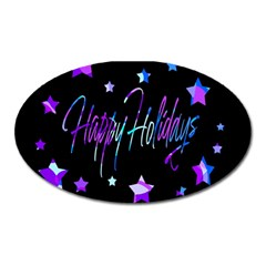 Happy Holidays 6 Oval Magnet