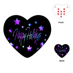Happy Holidays 6 Playing Cards (Heart)