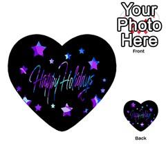 Happy Holidays 6 Multi-purpose Cards (Heart)