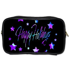 Happy Holidays 6 Toiletries Bags 2-Side