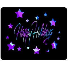 Happy Holidays 6 Fleece Blanket (Medium)