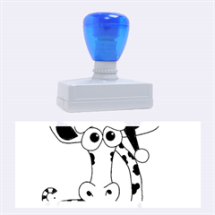 Xmas Giraffe   Blue Rubber Stamps (large)