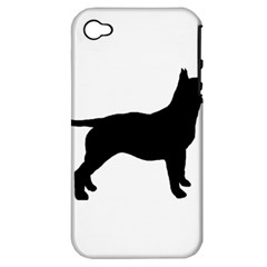 Bull Terrier Silo Black Apple iPhone 4/4S Hardshell Case (PC+Silicone)
