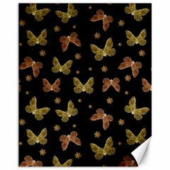 Insects Motif Pattern Canvas 11  X 14