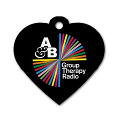 Above & Beyond  Group Therapy Radio Dog Tag Heart (Two Sides)