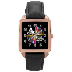 Above & Beyond  Group Therapy Radio Rose Gold Leather Watch