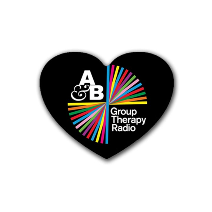 Above & Beyond  Group Therapy Radio Rubber Coaster (Heart)