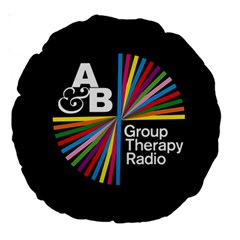 Above & Beyond  Group Therapy Radio Large 18  Premium Round Cushions