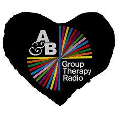 Above & Beyond  Group Therapy Radio Large 19  Premium Flano Heart Shape Cushions