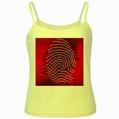 Above & Beyond Sticky Fingers Yellow Spaghetti Tank
