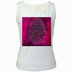 Above & Beyond Sticky Fingers Women s White Tank Top