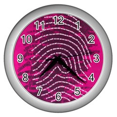 Above & Beyond Sticky Fingers Wall Clocks (Silver)