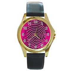 Above & Beyond Sticky Fingers Round Gold Metal Watch