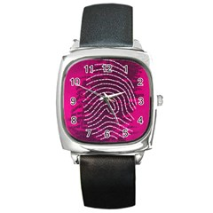 Above & Beyond Sticky Fingers Square Metal Watch