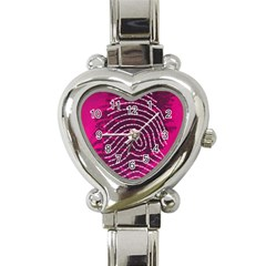 Above & Beyond Sticky Fingers Heart Italian Charm Watch