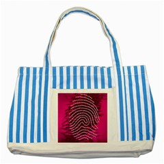 Above & Beyond Sticky Fingers Striped Blue Tote Bag