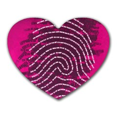 Above & Beyond Sticky Fingers Heart Mousepads