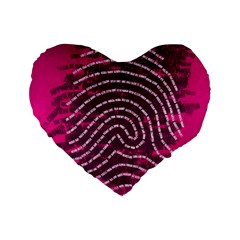 Above & Beyond Sticky Fingers Standard 16  Premium Heart Shape Cushions